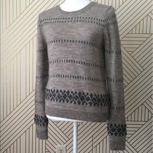 J crew NWOT fair isle trim super soft sweater